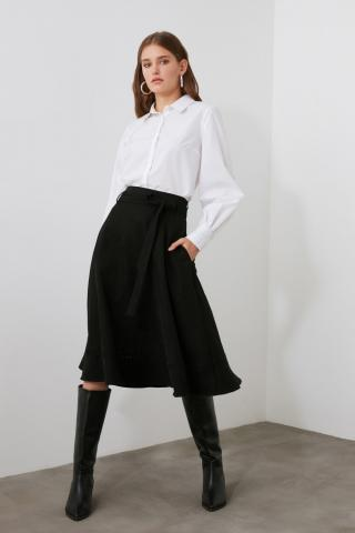 Trendyol Black Pocket Detailed Skirt dámské 34