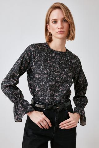 Trendyol Black Printed Blouse dámské 34