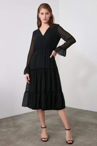 Trendyol Black PuckerDetail Dress dámské 34