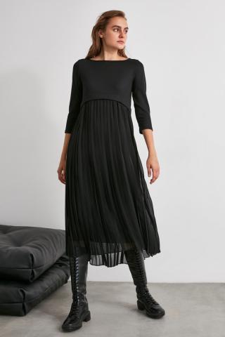 Trendyol Black Pyreper Dress dámské 34