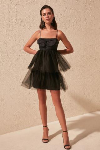 Trendyol Black Ribbon Detail Dress dámské 42