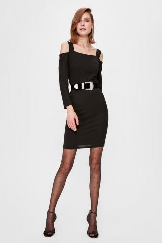 Trendyol Black Shoulder Detailed Dress dámské 34