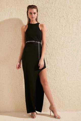 Trendyol Black Slash Detail Dress dámské 34