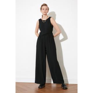 Trendyol Black Sleeveless Jumpsuit dámské 34