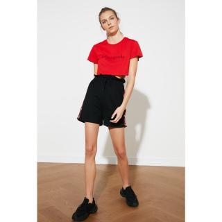 Trendyol Black Snap Sports Shorts & Bermuda dámské S