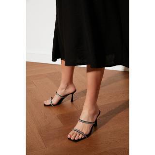 Trendyol Black Stone Womens Slippers dámské 36