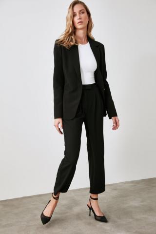 Trendyol Black Straight Cut Pants dámské 36