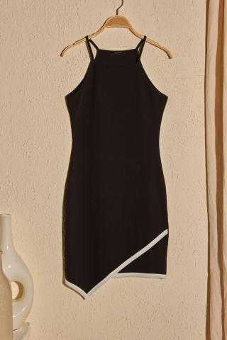 Trendyol Black Strapk Knitted Dress dámské XS