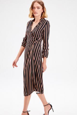 Trendyol Black striped Dress dámské 34