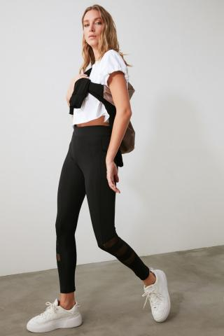 Trendyol Black Tulle Detailed Sports Tights S