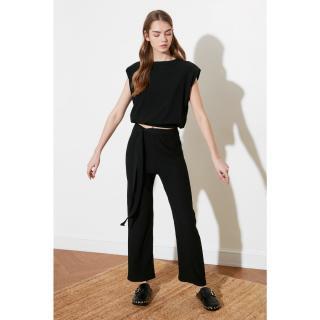 Trendyol Black Vatka Knitted Bottom-Top Tool dámské S