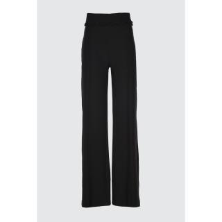 Trendyol Black Waist Detail Pants dámské 34