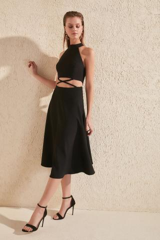Trendyol Black Waist Detailed Dress dámské 38