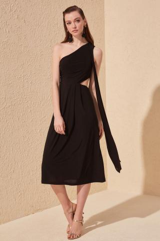Trendyol Black Waist Duplicity Dress dámské 34