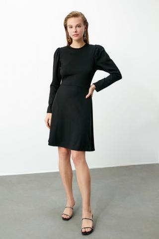 Trendyol Black Watermelon Sleeve Knitting Dress dámské XS