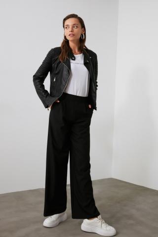 Trendyol Black Wide Leg Pants dámské 34