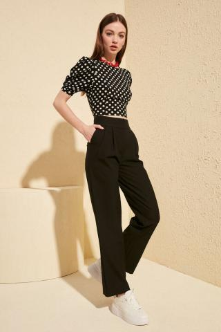 Trendyol Black Wide Leg Pants dámské 36