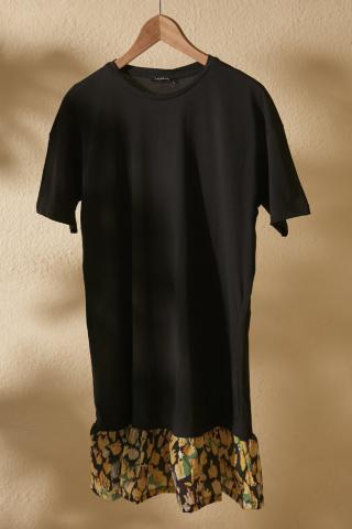 Trendyol Black Woven Detailed Knitting Dress dámské XS