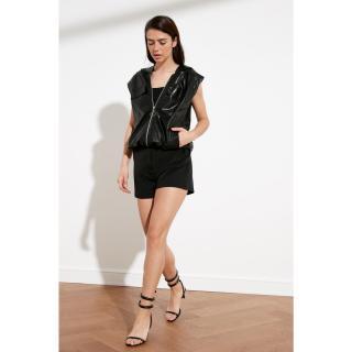 Trendyol Black Zip Vest dámské 34
