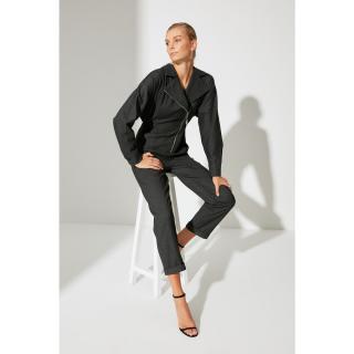 Trendyol Black Zipper Detailed Jumpsuit dámské Other 34