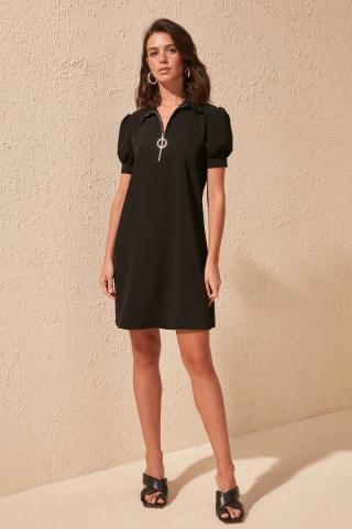 Trendyol Black Zippered Dress dámské 34