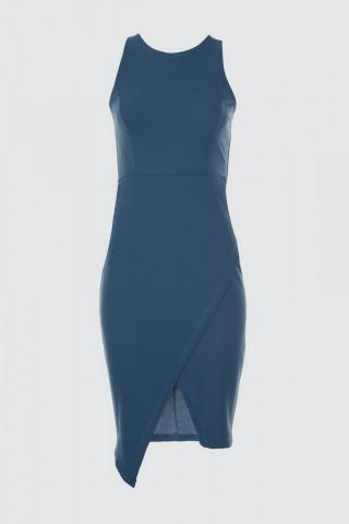 Trendyol Blue Belt Detailed Dress dámské Navy 34