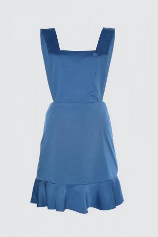 Trendyol Blue Button Detailed Volile Jile Dress dámské Navy 34