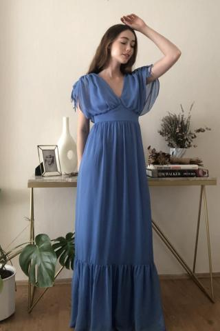 Trendyol Blue Collar Detailed Dress dámské Navy 38
