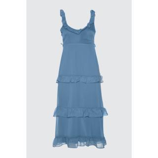 Trendyol Blue Frie dress dámské Navy 34