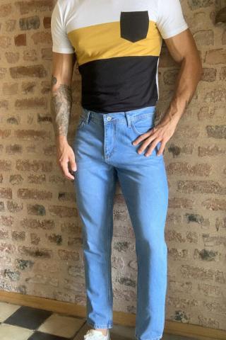 Trendyol Blue Men Relax Fit Jeans pánské Navy 34