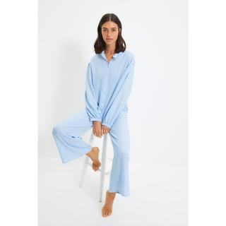 Trendyol Blue Woven Pajamas Set dámské Other 42