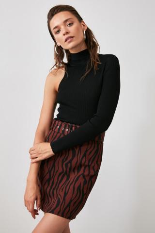 Trendyol Brown Belt Detailed Skirt dámské 36