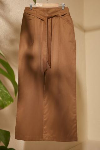Trendyol Brown BeltEd Baggy Leg Pants dámské 36