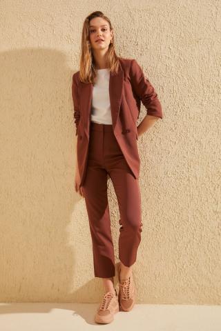 Trendyol Brown Classic Pants dámské 34
