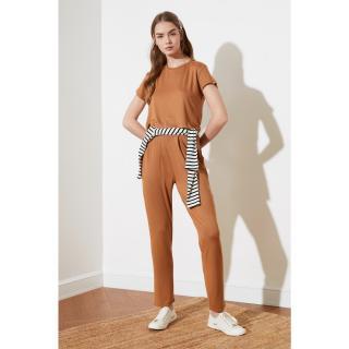 Trendyol Brown Knitted Bottom-Top Tool dámské S
