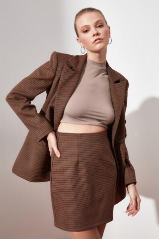 Trendyol Brown MiniSkirt dámské 34