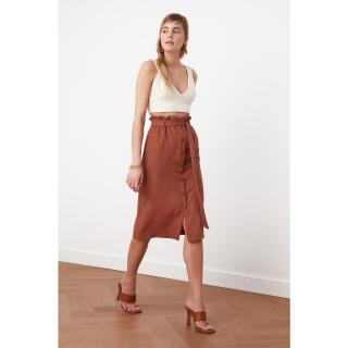 Trendyol Brown Tie Detailed Skirt dámské 34