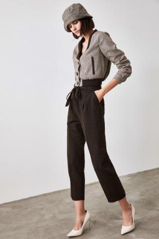 Trendyol Brown Tie Pants dámské 36