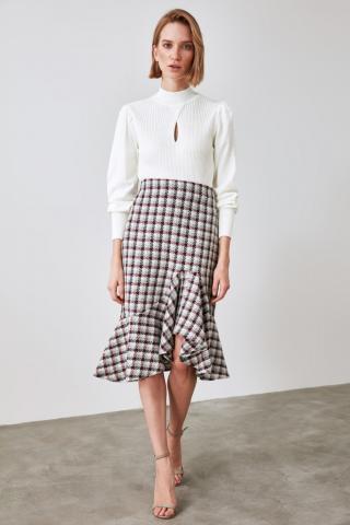 Trendyol Burgundy Flywheel Skirt dámské 34