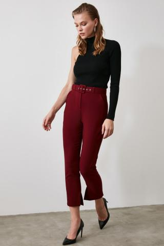 Trendyol Burgundy Pocket Detailed Pants dámské 38