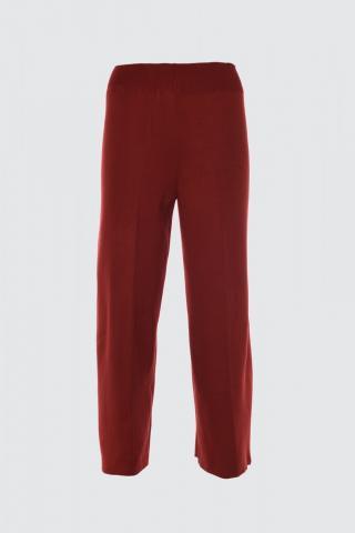 Trendyol Burgundy Wide Leg Knitpants dámské S