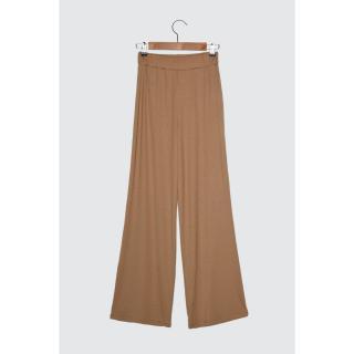 Trendyol Camel Fitli Flare Knitted Pants dámské XS