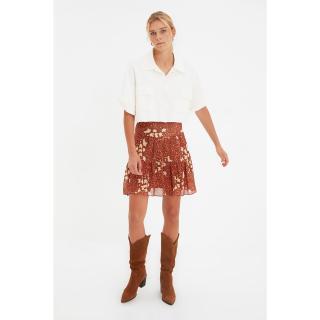 Trendyol Camel Floral Skirt dámské Other 34