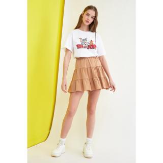 Trendyol Camel Knitted Skirt dámské S