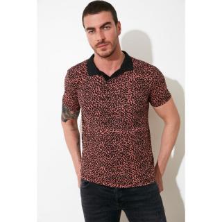 Trendyol Camel Mens Polo Neck Slim Fit T-shirt pánské S
