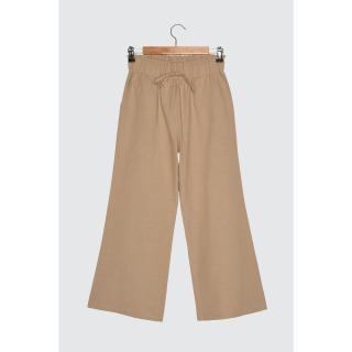 Trendyol Camel Wide Leg Pants dámské 38