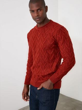 Trendyol červené pánsky sveter - M pánské červená M