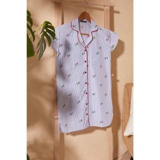 Trendyol Cherry Printed Shirt Dress dámské Multi 34