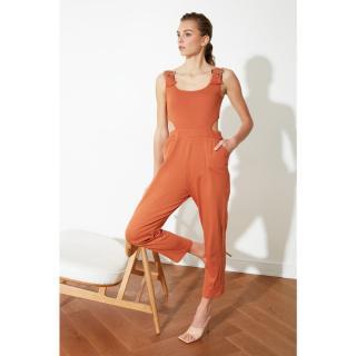 Trendyol Cinnamon Waist Detailed Knitted Coverall dámské XS