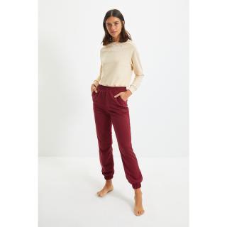 Trendyol Claret Red Knitted Sweatpants dámské Other XXL